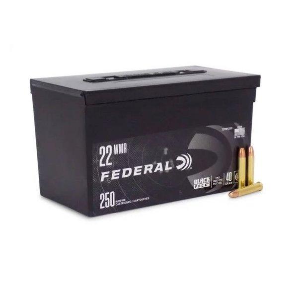 FEDERAL 22 WMR 40GR FMJ BLACK PACK 250RD