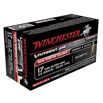WINCHESTER 17 WIN SUPER MAG 25GR VARMINT HE