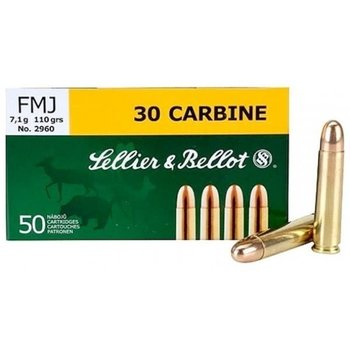 SELLIER & BELLOT 30 CARBINE 110GR FMJ