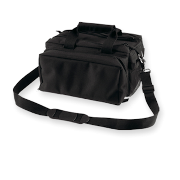 BULLDOG RANGE BAG DELUXE W/STRAP BLACK