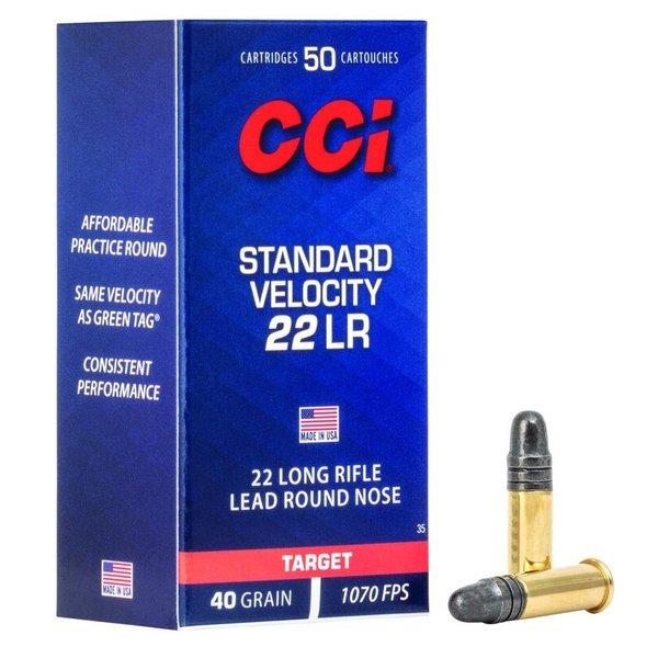 CCI 22LR 40GR STANDARD VELOCITY 50 ROUNDS