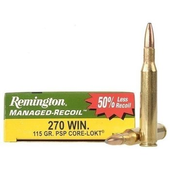 REMINGTON 270 WIN 115GR MANAGED RECOIL