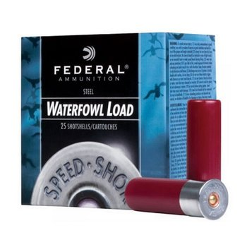 "FEDERAL 12GA 3-1/2"" 1-3/8 OZ 2 SHOT SPEED SHOK 25CT"