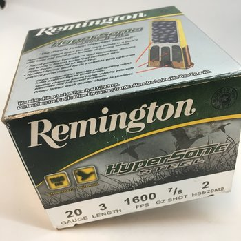"REMINGTON 20GA 3"" #2 HYPERSONIC STEEL"