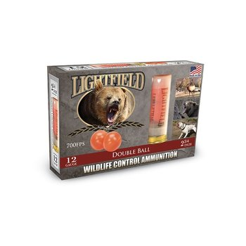 "LIGHTFIELD WILDLIFE DEFENSE 12 GA 2 3/4"" DOUBLE BALL"