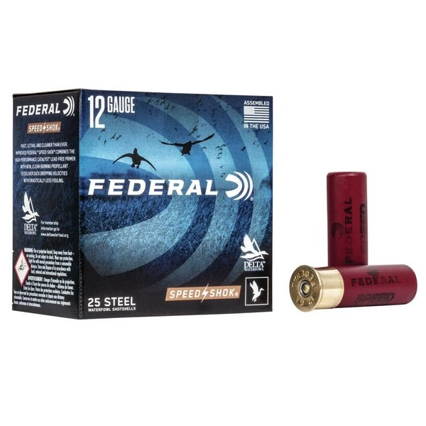"FEDERAL 12GA 2-3/4"" 1-1/8 OZ SS #3 SHOT"