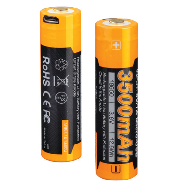 FENIX 3500 U MAH USB 18650 BATTERY