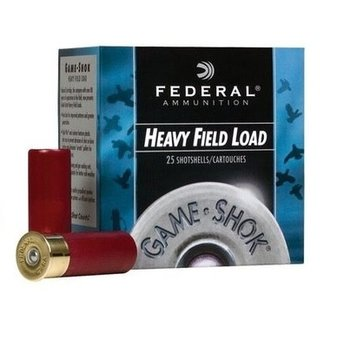 "FEDERAL 12GA 2-3/4"" 11/8OZ #6 HEAVY FIELD LOAD 25CT"