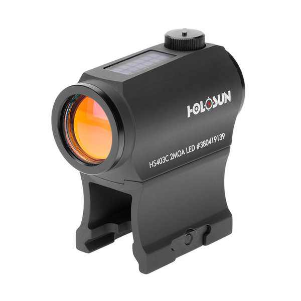 HOLOSUN COMPACT SOLAR SIGHT BLACK 2 MOA RED DOT
