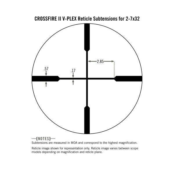 VORTEX CROSSFIRE SCOUT 2-7X32 V-PLEX MRAD
