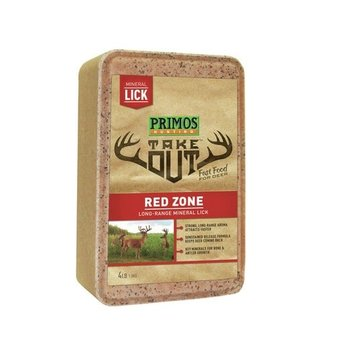 PRIMOS TAKE OUT RED ZONE MINERAL LICK 4LB BLOCK