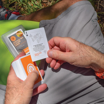 UST SURVIVAL TIPS PLAYING CARDS W KNOTS