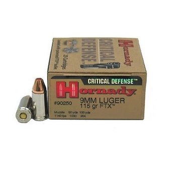 HORNADY 9MM LUGER 115GR FTX CRITICAL DEFENSE