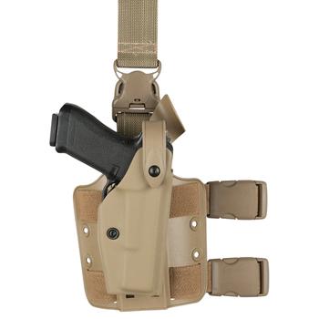 SAFARILAND HOLSTER - SLS MODEL 6005 GLOCK SLS TACT W/QUICK-RELEASE LEG STRAP