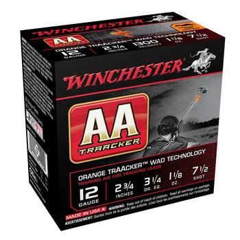 """WINCHESTER AA TRAACKER 12GA 2-3/4"""" 1-1/8OZ 7-1/2 SHOT"""