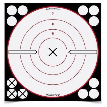"BIRCHWOOD CASEY SHOOT-N-C 8"" WHITE/BLACK X-BULL'S-EYE"