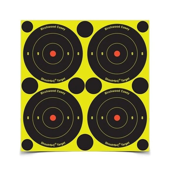 "BIRCHWOOD CASEY SHOOT-N-C 3"" BULL'S-EYE 48 PK"