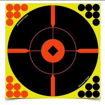 "BIRCHWOOD CASEY SHOOT-N-C 8"" CROSSHAIR BULL'S EYE TARGET 50PK"