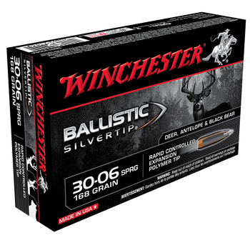 WINCHESTER 30-06 SPRG 168GR BALLISTIC ST 20CT