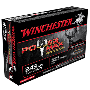 WINCHESTER 243 WIN 100GR POWER MAX 20CT