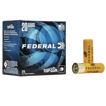 "FEDERAL 20GA 2-3/4"" TARGET LOAD 2.5 DRAM 7/8 OZ 8 SHOT"