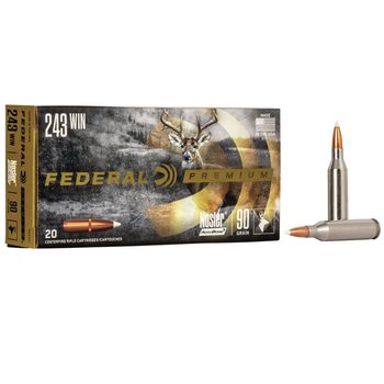 FEDERAL 243 WIN 90GR NOSLER ACCUBOND 20CT