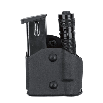 SAFARILAND MODEL 574 MAGAZINE HOLDER W/LIGHT POUCH, PADDLE BLACK