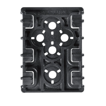 SAFARILAND EQUIPMENT LOCKING RECEIVER PLATE X2 BLACK