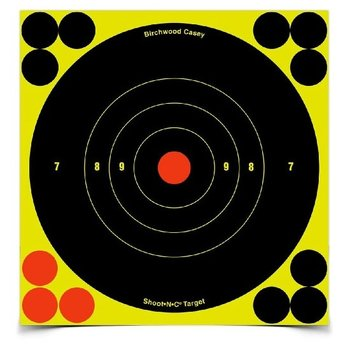"BIRCHWOOD CASEY SHOOT-N-C 6"" BULL'S-EYE TARGETS"