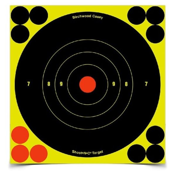 "BIRCHWOOD CASEY SHOOT-N-C 8"" BULL'S-EYE 30 PACK"