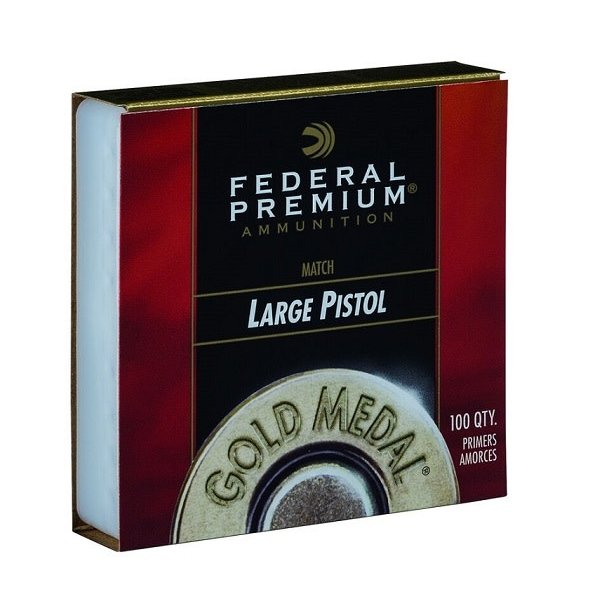 FEDERAL LARGE PISTOL MATCH GOLD MEDAL PRIMER GM150M