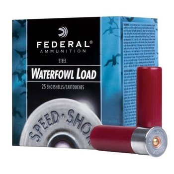 "FEDERAL 12GA 2-3/4"" 1-1/8 BB STEEL SPEED SHOK 25CT"