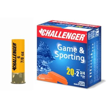 "CHALLENGER 20GA 2-3/4"" 7/8OZ 6SHOT 25CT"