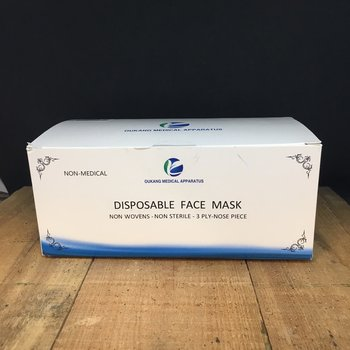 3 PLY PROTECTIVE FACE MASK DISPOSABLE 50CT
