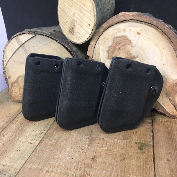 G-CODE POUCH - HALEY D3 SINGLE MAG x3 GLOCK 9MM FUZZY BLACK