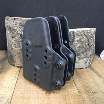 G-CODE POUCH - DOUBLE RIFLE MAG BLACK HALEY STRATEGIC