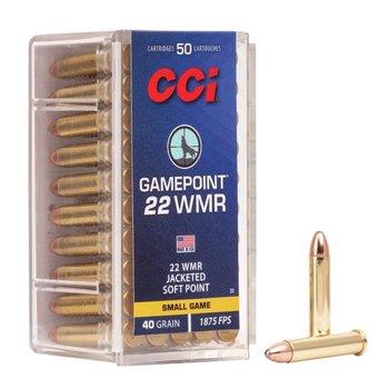 CCI 22 WMR 40GR JSP GAMEPOINT 50CT