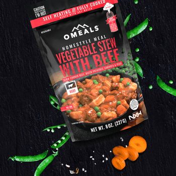 O'MEALS Self Heating Meal Vegetable Stew w/Beef