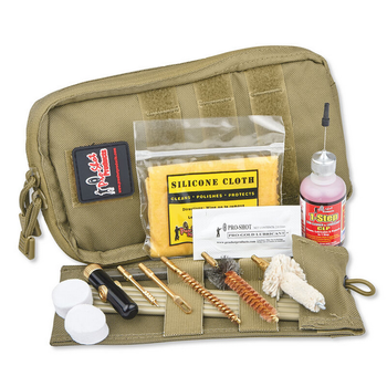 PROSHOT AR15 223/5.56 POUCH CLEANING KIT COYOTE