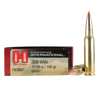 HORNADY 308 WIN 165GR GMX SUPERFORMANCE 20CT