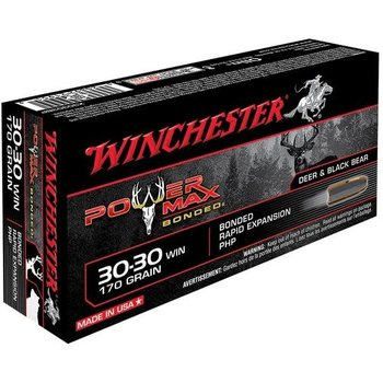WINCHESTER 30-30 WIN 170GR POWER MAX BONDED 20CT