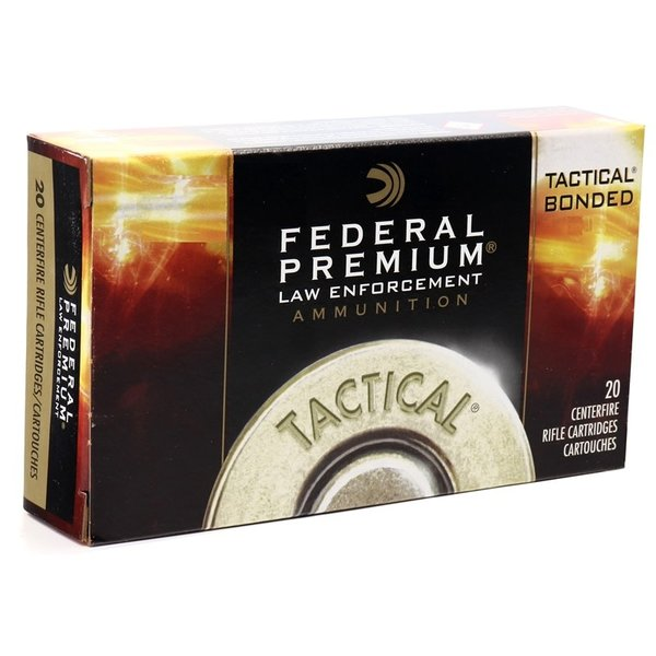FEDERAL 308 WIN 165GR TACTICAL BONDED SP 20CT