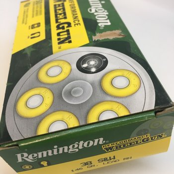 REMINGTON 38 S&W 146GR WHEELGUN