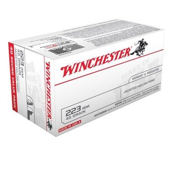 WINCHESTER 223 REM 45GR JHP 50CT
