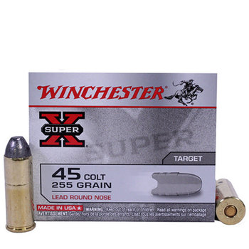 WINCHESTER 45 COLT 255GR LEAD RN 20CT