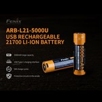 FENIX 5000mAh USB RECHARGEABLE 21700 BATTERY