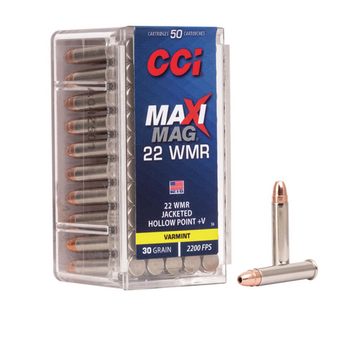 CCI 22 WMR 30gr JHP MAXI-MAG 50ct