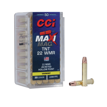 CCI 22 WMR 30gr JHP MAXI MAG TNT 50ct