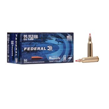 FEDERAL 22-250 REM 55gr VARMINT & PREDATOR 50ct