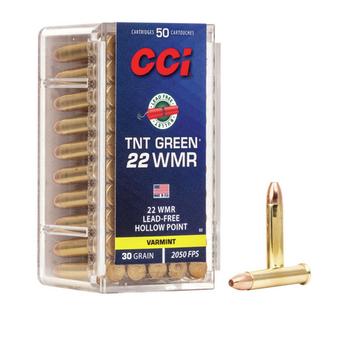 CCI 22 WMR 30gr JHP TNT GREEN LEAD-FREE 50ct